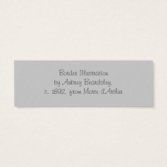 Beardsley Border Abstract Book Mark Mini Business Card