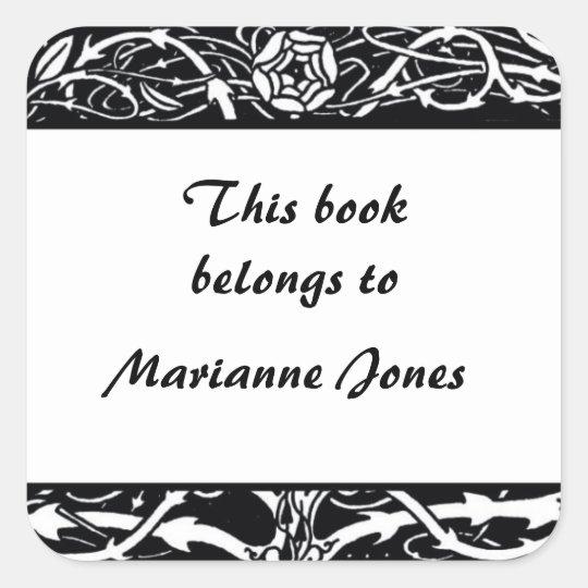 Beardsley Border Elegant Bookplate