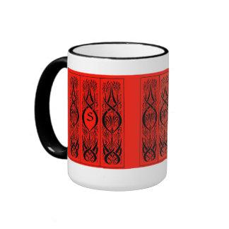 Beardsley Border Monogram Mug
