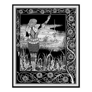 Beardsley - Excalibur - King Arthur Art Posters