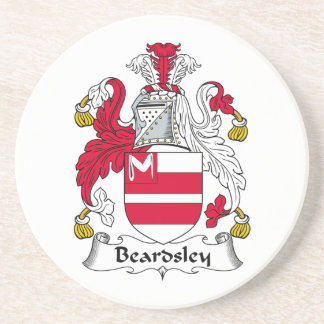 Beardsley Family Crest Beverage Coaster