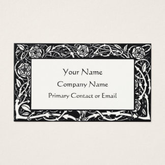 Beardsley Floral Border Elegant Business Card