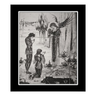 Beardsley King Arthur Poster