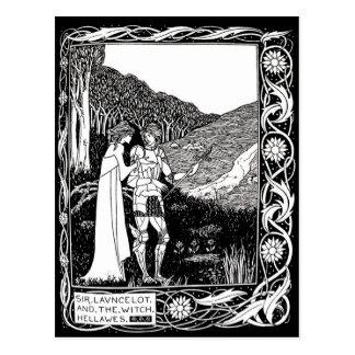 Beardsley Lancelot y postal de la bruja