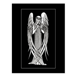 Beardsley Nouveau Angel Post Card