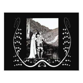 Beardsley Nouveau Knight & Lady Wedding Invitation