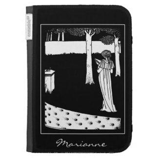 Beardsley Nouveau Lady Reader Kindle Case