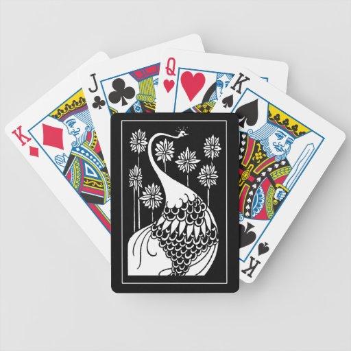 Beardsley Nouveau Peacock Playing Cards