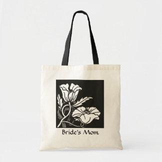Beardsley Nouveau Poppies Wedding Favor Tote Bags