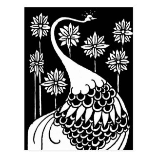 Beardsley Peacock Post Card