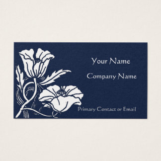 Beardsley Poppies Elegant Business Card