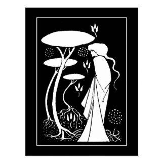 Beardsley Sorceress LeFay Post Card