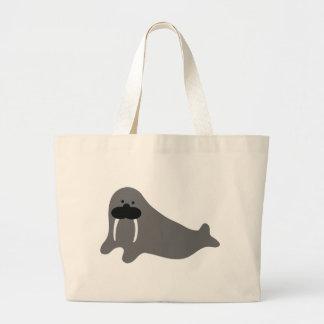 beardy walrus large tote bag