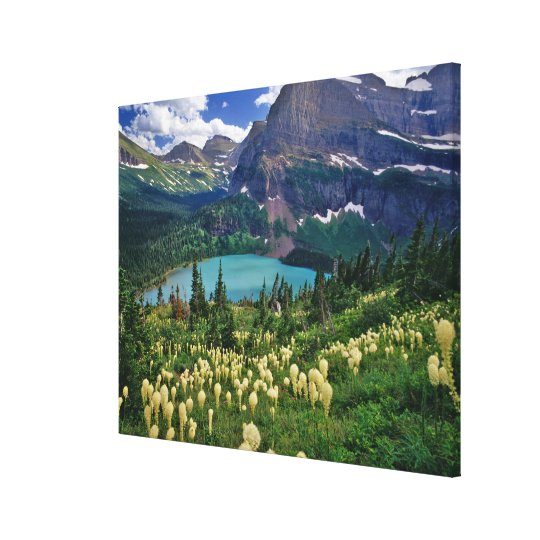 Beargrass above Grinnell Lake in the Many Canvas Print