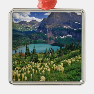 Beargrass above Grinnell Lake in the Many Metal Ornament