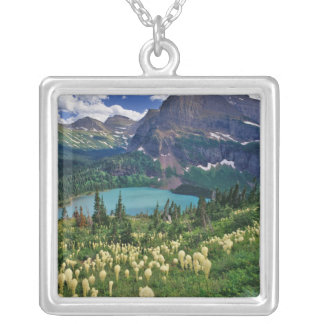 Beargrass above Grinnell Lake in the Many Silver Plated Necklace