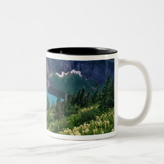 Beargrass above Grinnell Lake in the Many Two-Tone Coffee Mug