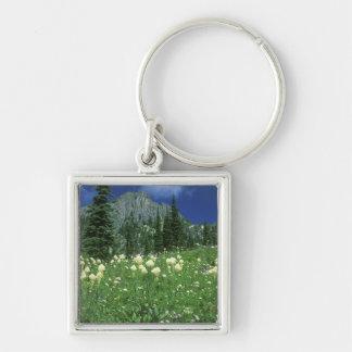 Beargrass at Eunice Lake, Mt. Rainier NP, WA, Keychain
