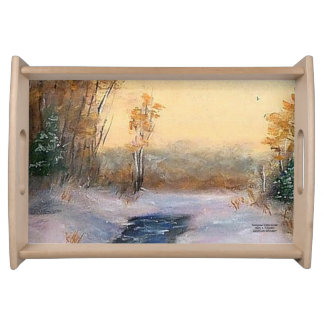 """""""BEARGRASS CREEK SUNSET SERVING TRAY"""" SERVING TRAY"""