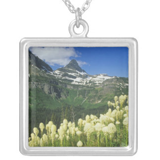 Beargrass near Logan Pass in Gacier National Silver Plated Necklace