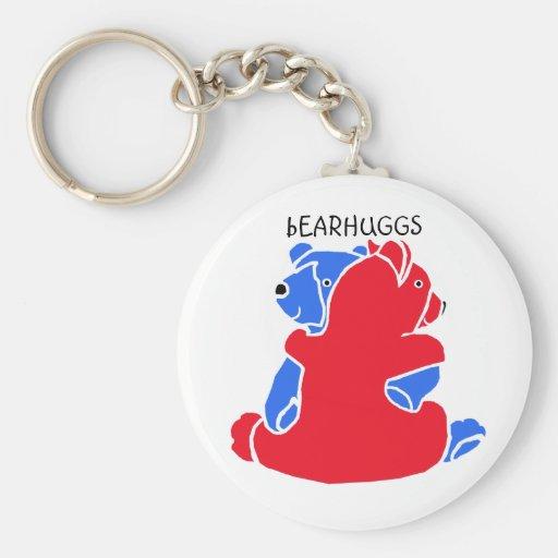 """"""" bEARHUGGS """" Basic Round Button Keychain"""
