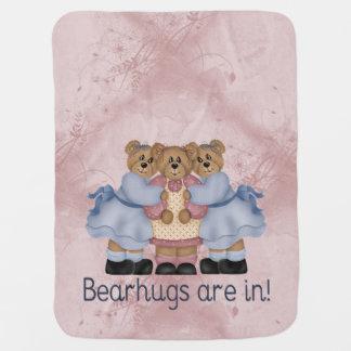 Bearhugs Receiving Blanket