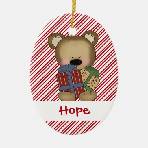 Bearing Gifts Lot of Presents Teddy Bear Christmas Christmas Ornament