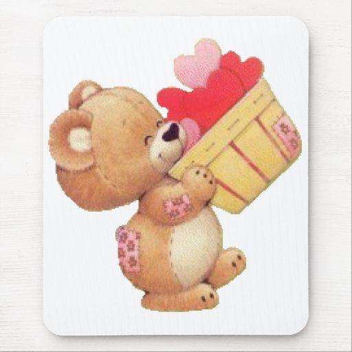 Bearing Hearts Mouse Pad