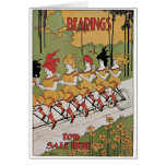 Bearings Bicycle Poster Greeting Cards