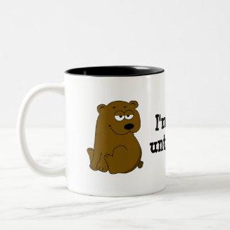 Bearly awake until coffee Two-Tone coffee mug