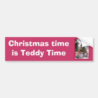 Bearly Christmas Car Bumper Sticker