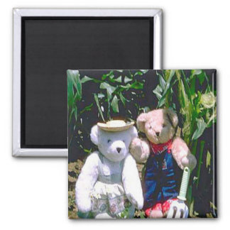 Bearly Gardeners 2 Inch Square Magnet