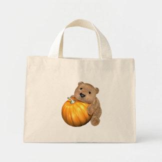 BearPumpkin Mini Tote Bag