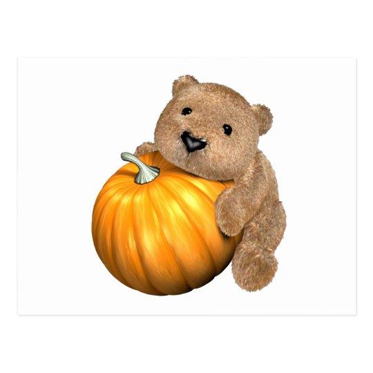 BearPumpkin Postcard