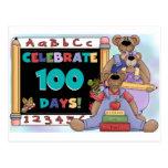 Bears 100 Days of School Postcard