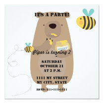 Bears and Bees Invitation