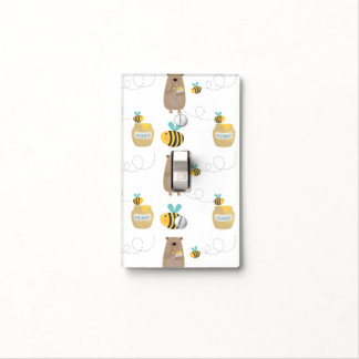 Bears and Bees Light Switch Cover