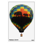 Bears And Eagle Silhouette Hot Air Balloon Wall Decal