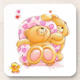 Bears and Hearts Drink Coaster