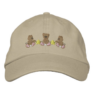 Bears and Stars Embroidered Baseball Hat