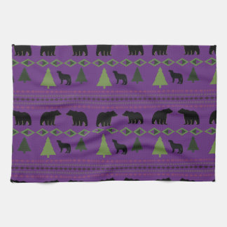 Bears and Wolves Hand Towel