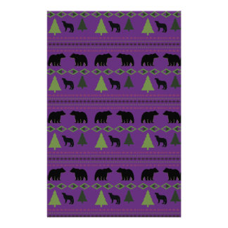 Bears and Wolves Stationery