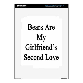 Bears Are My Girlfriend's Second Love iPad 3 Decals