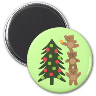 Bears at Christmas Refrigerator Magnet