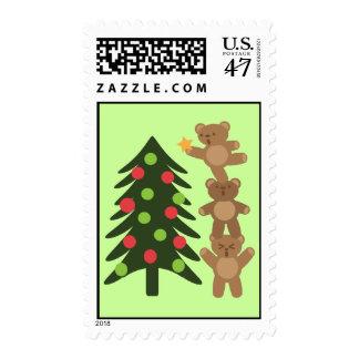 Bears at Christmas Postage
