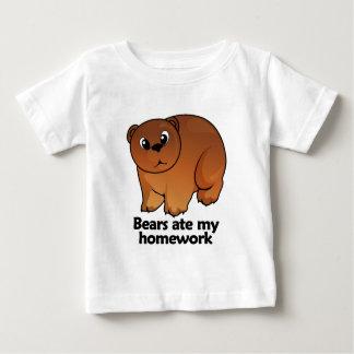 Bears ate my homework baby T-Shirt
