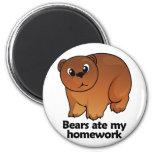 Bears ate my homework magnets