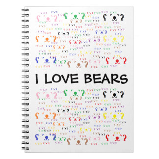 BEARS BEARS BEARS SPIRAL NOTE BOOK