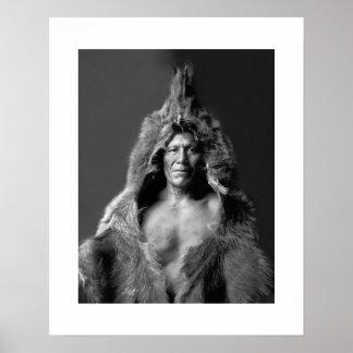 Bear's Belly - An Arikara Medicine Man Poster