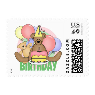 Bears Birthday Stamps
